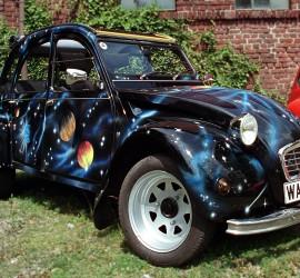 """Messerschmitt Bubble CarJune 30, 2002 Citroën 2CV meeting location """"Dampfe"""""""