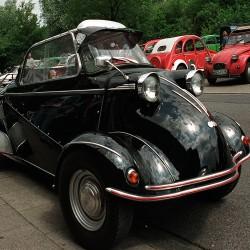 """Messerschmitt Bubble Car June 30, 2002 Citroën 2CV Meeting Location """"Dampfe"""" Essen, Germany"""